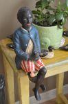 Antiquité Sculpture  serviteur noir, Antiquités