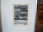 Landscape etching from Paule Lamarche - Antiques