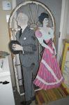 Personnages peints pour pièces de théâtres - Antiquités