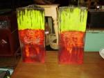 Paire de vases en céramique signés Poiré