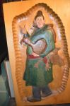 Marcel Racette  colored carving - Antiques