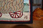Tapis crocheté - Antiquités