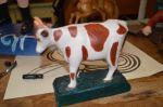 vache sculptée dans la masse - Antiquités