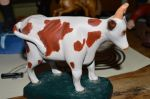 Cow, one piece carving - Antiques