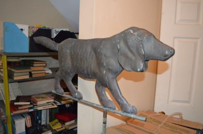 Girouette chien en cuivre 1